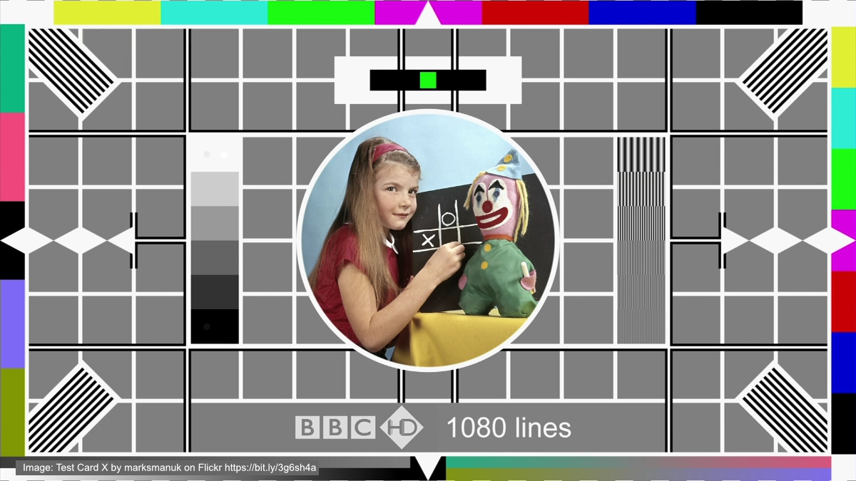 Image: Test Card X by marksmanuk on Flickr https://bit.ly/3g6sh4a