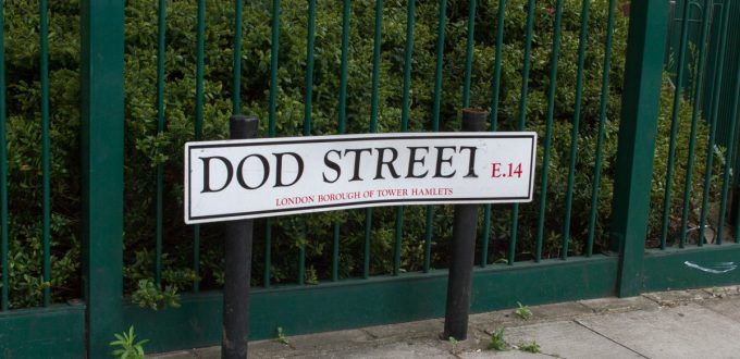 Photo of Dod Street street sign