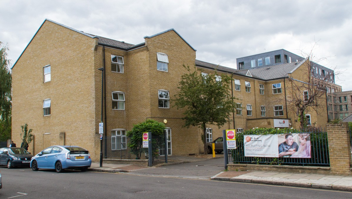 Photograph of exterior of Aspen Court Care Home, Dodd Street, Poplar