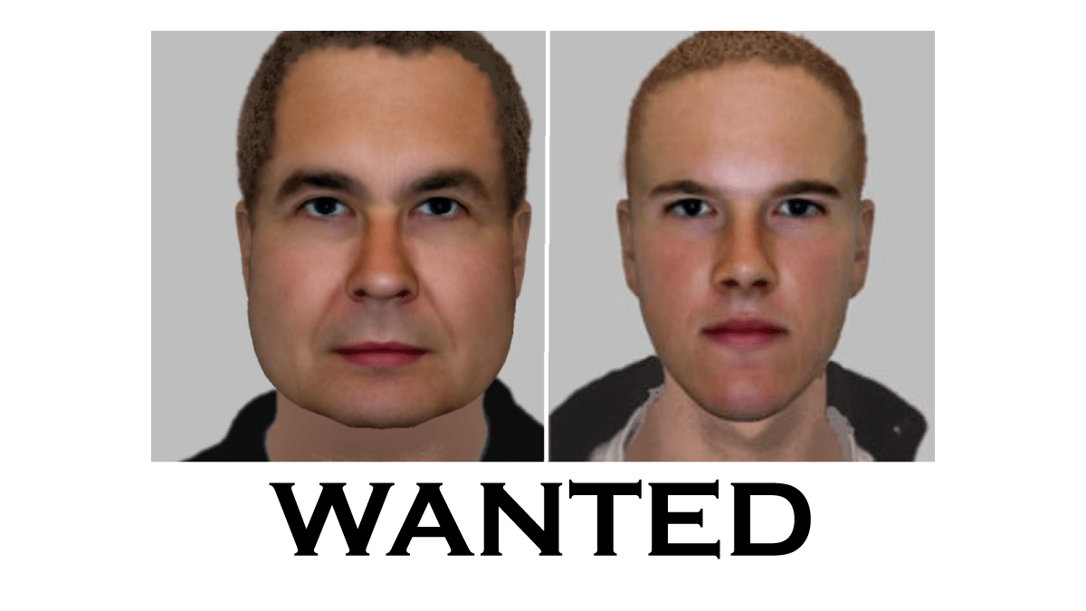 Police e-fit image of two men wanted in connection with distraction burglaries