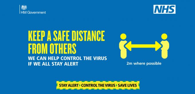 NHS Advert Keep A Safe Distance from Others advice