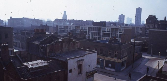 Photograph of view over Shadwell 1980s