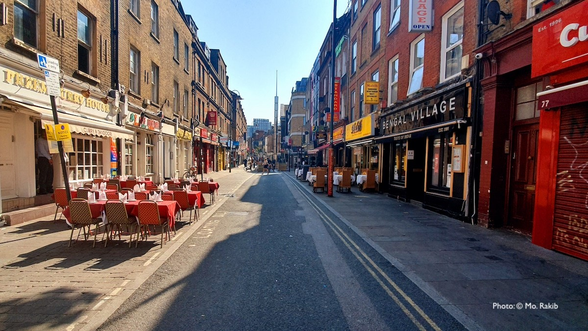 Photo of deserted Brick Lane